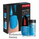 Pupa Nail Art Mania Crazy Crystals 01 Fluo Blue Smalto Brillante Lasting color