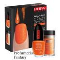 Pupa Nail Art Mania Crazy Crystals 04 Fluo Orange Smalto Brillante Lasting color