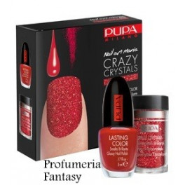 Pupa Nail Art Mania Crazy Crystals 08 Urban Red Smalto Brillante Lasting color