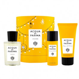 Acqua di Parma Colonia Eau de Colognr ml.100 3.4 Fl.OZ Spray + Bath and Shower Gel Ml.75 + Deodorante Spray Ml.50